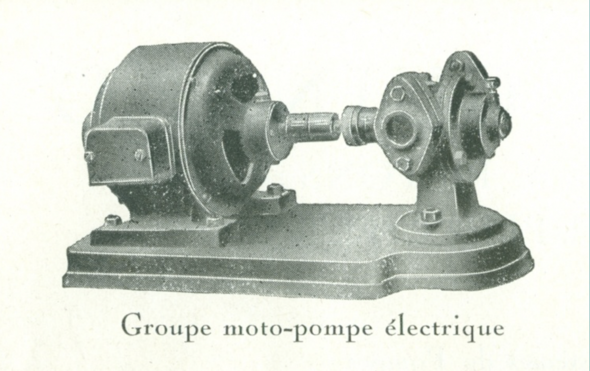Pompe Guinard rotative à piston
